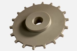 "Drive wheel suitable for ""Uni"" transfer line D:152,4 x d:25.3 x 25 mm; Material: PA"
