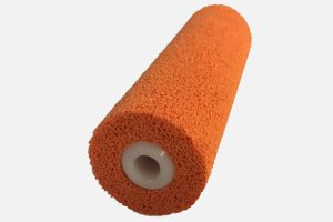 Pinch roller complete with polyamide-axis. Sponge finely pored. Dimensions as desired