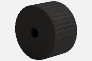 "Paper feed roller black; D34 x d6 x 20 mm; like ""1068"" but softer"