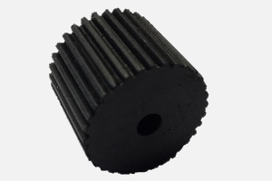 Paper feed roller black; D24,5 x d5 x 20 mm; like 2414 but softer