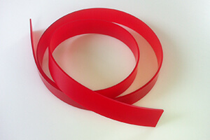 Damping strip made of original Vulkollan 50 x 4 x 2400 mm; PU 80 Shore, red
