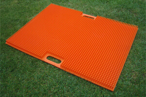 """Stollenputzer"" mat (800 x 600 mm), orange"