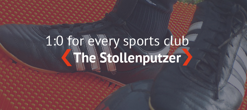 Stollenputzer: innovative cleaning mat for football, outdoor sport and more